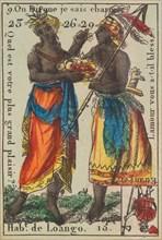 Hab.t de Loango from Playing Cards (for Quartets) 'Costumes des Peuples Étrangers', 1700-1799.