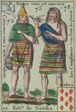 Hab.t de Nootka from Playing Cards (for Quartets) 'Costumes des Peuples Étrangers', 1700-1799.