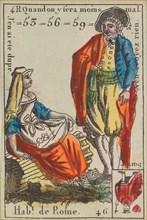 Hab.t de Rome from Playing Cards (for Quartets) 'Costumes des Peuples Étrangers', 1700-1799.