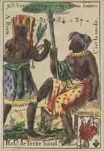 Hab.t de Terre natal from Playing Cards (for Quartets) 'Costumes des Peuples Étrangers', 1700-1799.