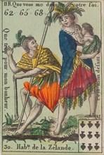 Hab.ts de la Zelande from Playing Cards (for Quartets) 'Costumes des Peuples Étrangers', 1700-1799.