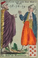 Hab.ts de Mauritanie from Playing Cards (for Quartets) 'Costumes des Peuples Étrangers', 1700-1799.