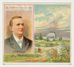 J. B. McCullagh, St. Louis Globe-Democrat, from the American Editors series (N35) for Allen & Ginter Cigarettes, 1887.