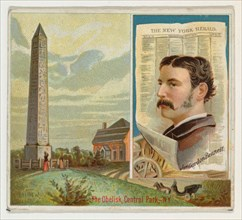 James Gordon Bennett, The New York Herald, from the American Editors series (N35) for Allen & Ginter Cigarettes, 1887.