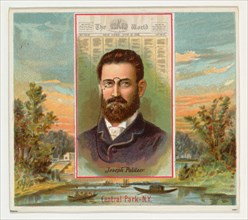 Joseph Pulitzer, The New York World, from the American Editors series (N35) for Allen & Ginter Cigarettes, 1887.