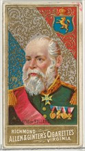 King of Holland, from World's Sovereigns series (N34) for Allen & Ginter Cigarettes, 1889.