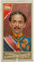 King of Siam, from World's Sovereigns series (N34) for Allen & Ginter Cigarettes, 1889.