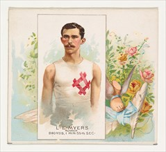 L.E. Meyers, Runner, from World's Champions, Second Series (N43) for Allen & Ginter Cigarettes, 1888.