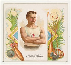 M.W. Ford, All Around Athlete, from World's Champions, Second Series (N43) for Allen & Ginter Cigarettes, 1888.