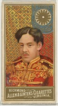 Mikado of Japan, from World's Sovereigns series (N34) for Allen & Ginter Cigarettes, 1889.