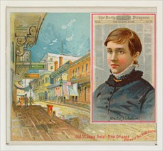 Mrs. E. J. Nicholson, The New Orleans Daily Picayune, from the American Editors series (N35) for Allen & Ginter Cigarettes, 1887.