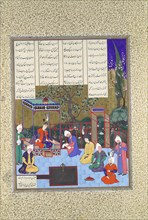 Nushirvan Promulgates His Reforms, Folio 602v from the Shahnama (Book of Kings) of Shah Tahmasp, ca. 1530-35.