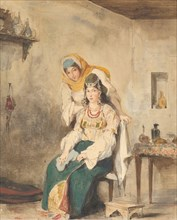 Saada, the Wife of Abraham Ben-Chimol, and Préciada, One of Their Daughters, 1832.