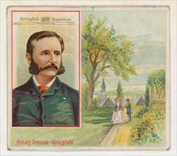 Samuel Bowles, Springfield Republican, from the American Editors series (N35) for Allen & Ginter Cigarettes, 1887.