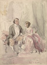 """Scene from Vanity Fair: """"Jos and Becky"""", 1848-80."""
