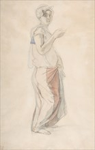 Standing Woman in Moroccan Costume, ca. 1834.