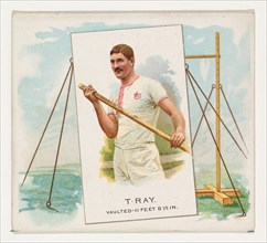 T. Ray, Pole Vault, from World's Champions, Second Series (N43) for Allen & Ginter Cigarettes, 1888.
