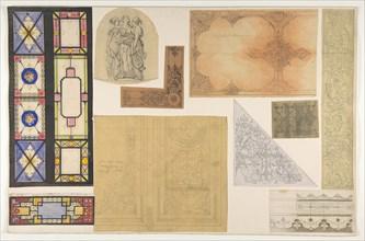 Ten designs for the decoration of the Opéra Comique, Paris, second half 19th century.