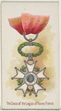 The Cross of the Legion of Honor, France, from the World's Decorations series (N30) for Allen & Ginter Cigarettes, 1890.