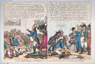 The Double Humbug or the Devils Imp Praying for Peace, January 1, 1814.