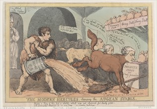 The Modern Hercules, Cleansing the Augean Stable, April 23, 1805.