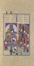 The Shah's Wise Men Approve of Zal's Marriage, Folio 86v from the Shahnama (Book of Kings) of Shah Tahmasp, ca. 1525-30.