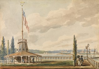 The Traveler's First View of New York?The Battery and Flagstaff, 1811-ca. 1813.