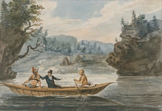 Two Indians and a White Man in a Canoe, 1811-ca. 1813.