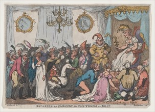 Votaries of Fashion in the Temple of Folly, August 25, 1808.