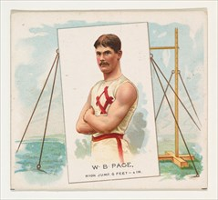 W.B. Page, High Jump, from World's Champions, Second Series (N43) for Allen & Ginter Cigarettes, 1888.