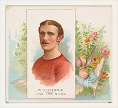 W.G. George, Runner, from World's Champions, Second Series (N43) for Allen & Ginter Cigarettes, 1888.