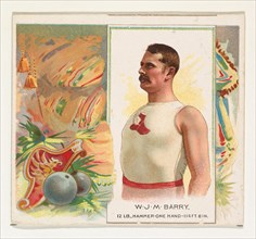 W.J.M. Barry, Hammer Throw, from World's Champions, Second Series (N43) for Allen & Ginter Cigarettes, 1888.