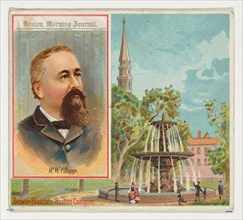 W.W. Clapp, Boston Morning Journal, Philadelphia Public Ledger, from the American Editors series (N35) for Allen & Ginter Cigarettes, 1887.