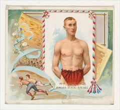William Cummings, Runner, from World's Champions, Second Series (N43) for Allen & Ginter Cigarettes, 1888.