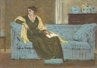 Woman Seated on a Sofa, 1865-1915.