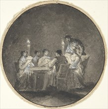 The Card Players, 1780-1820.