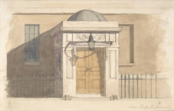 Domed Projecting Rectangular Entrance to a House near Russell Square, 19th century.