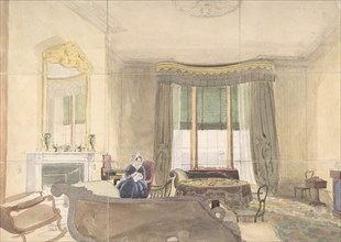 Drawing Room with Seated Woman, 1848.