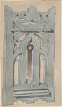 Metal Keyplate for Church, second half 19th century.