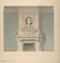 Design for Fireplace in French Renaissance Revival Style, 1856.