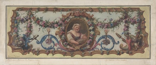 Design for a Tapestry Seat of a Sofa, 1721.
