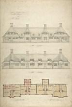 Design for Thatched Cottages for Mrs. Kingsley, 1910.