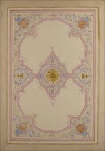 Design for Ceiling Decorated with Lavender Arabesques, 19th century.