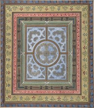 Design for Ceiling with Plant and Arabesque Decoration, 19th century.