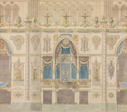 Elevation of the Royal Box for the Coronation of Louis XVIII, Reims Cathedral, n.d..
