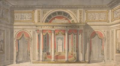 Design for a Bedroom, 1785-1838.