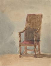Study of an Antique Armchair, 1849.