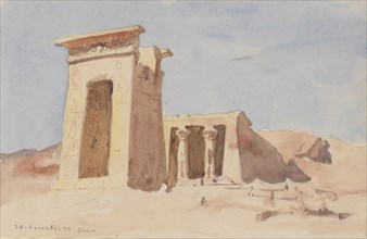 The Temple of Dendur, showing the Pylon, 1874.