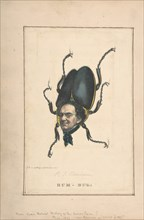 Hum-Bug (P. T. Barnum), from the Comic Natural History of the Human Race, 1851.
