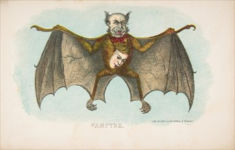 Vampyre, from The Comic Natural History of the Human Race, 1851.